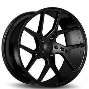 "20"" Staggered Gianelle Wheels Dilijan Gloss Black Rims"