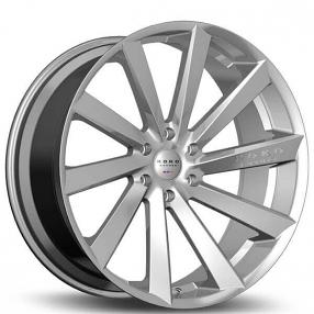 """22"""" Staggered Koko Kuture Wheels Kapan Gloss Silver Rims"""