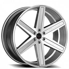 """26"""" Giovanna Wheels Dramuno-6 Silver Machined Rims"""