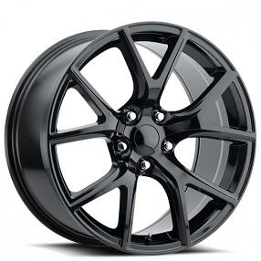 "20"" Jeep Grand Cherokee Trackhawk Wheels FR 75 Gloss Black OEM Replica Rims"