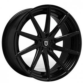 "22"" Staggered Lexani Wheels CSS-15 Gloss Black Rims"
