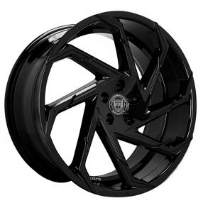 "20"" Staggered Lexani Wheels Cyclone Gloss Black Rims"