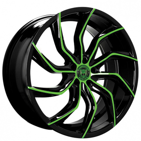 "22"" Staggered Lexani Wheels Matisse Custom Finish Rims"