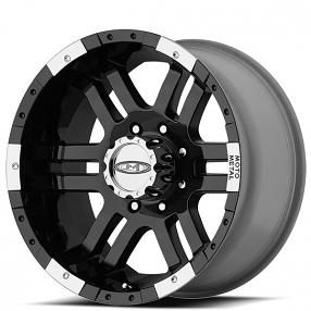 "16"" Moto Metal Wheels MO951 Gloss Black Machined Off-Road Rims"