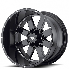 """17"""" Moto Metal Wheels MO962 Gloss Black with Milled Accents Off-Road Rims"""