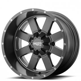 "20"" Moto Metal Wheels MO962 Satin Grey Milled Off-Road Rims"