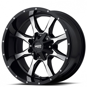 "22"" Moto Metal Wheels MO970 Gloss Black Machined Off-Road Rims"