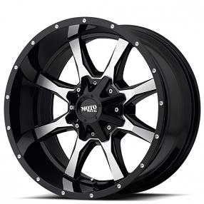 "17"" Moto Metal Wheels MO970 Gloss Black Machined Off-Road Rims"