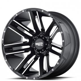 "18"" Moto Metal Wheels MO978 Razor Satin Black Machined Off-Road Rims"