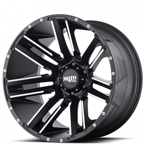 "22"" Moto Metal Wheels MO978 Razor Satin Black Machined Off-Road Rims"