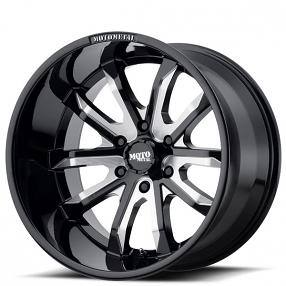 "17"" Moto Metal Wheels MO983 Dagger Gloss Black Milled Off-Road Rims"