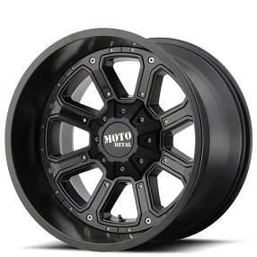 "17"" Moto Metal Wheels MO984 Shift Matte Black with Black Insert Off-Road Rims"