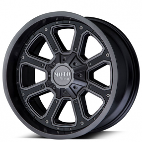 "17"" Moto Metal Wheels MO984 Shift Matte Gray with Black Insert Off-Road Rims"