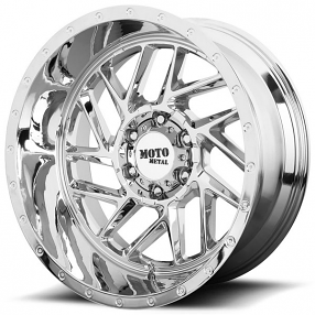 "22"" Moto Metal Wheels MO985 Breakout Chrome Off-Road Rims"