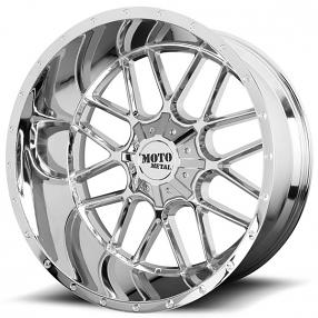 "22"" Moto Metal Wheels MO986 Siege Chrome Off-Road Rims"
