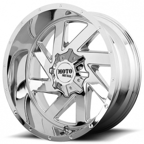 "22"" Moto Metal Wheels MO988 Melee Chrome Off-Road Rims"