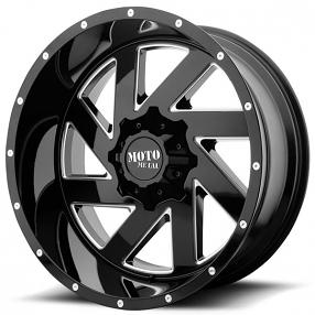 "22"" Moto Metal Wheels MO988 Melee Gloss Black Milled Off-Road Rims"