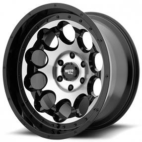 "17"" Moto Metal Wheels MO990 Rotary Gloss Black Machined Off-Road Rims"