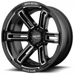 "20"" Moto Metal Wheels MO991 Ruckus Gloss Black Milled Off-Road Rims"