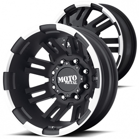 "17"" Moto Metal Wheels MO963 Dually Black Machined Off-Road Rims"