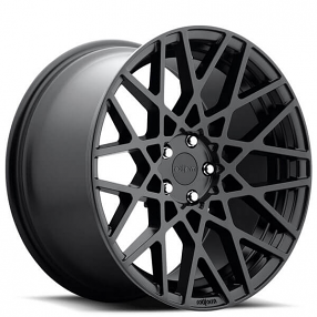 "19"" Staggered Rotiform Wheels R112 BLQ Matte Black Rims"