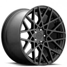 "20"" Staggered Rotiform Wheels R112 BLQ Matte Black Rims"