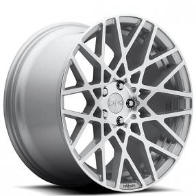 "18"" Rotiform Wheels R110 BLQ Silver Machined Rims"