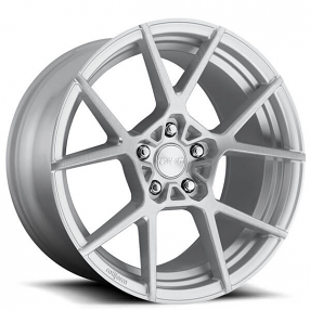 """19"""" Rotiform Wheels R138 KPS Silver with Brushed Face Rims"""