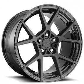 "20"" Rotiform Wheels R139 KPS Matte Black Face with Gloss Black Window Rims"