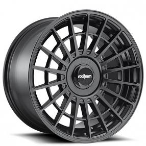 """19"""" Staggered Rotiform Wheels R142 LAS-R Matte Black Rims"""
