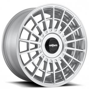 "19"" Staggered Rotiform Wheels R143 LAS-R Gloss Silver Rims"
