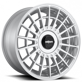 "20"" Staggered Rotiform Wheels R143 LAS-R Gloss Silver Rims"