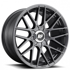 """19"""" Staggered Rotiform Wheels R141 RSE Matte Anthracite Rims"""