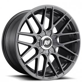 "17"" Rotiform Wheels R141 RSE Matte Anthracite Rims"