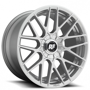 "19"" Staggered Rotiform Wheels R140 RSE Silver Rims"