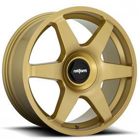 "19"" Rotiform Wheels R118 SIX Matte Gold Rims"