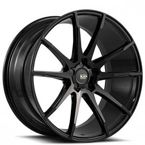 "20"" Staggered Savini Wheels Black Di Forza BM12 Gloss Black Light Weight Rims"