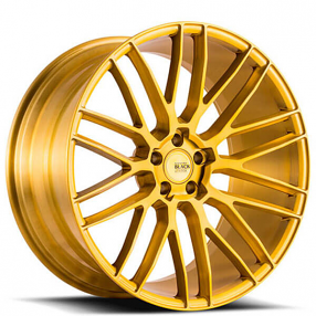 "20"" Staggered Savini Wheels Black Di Forza BM13 Custom Brushed Gold Light Weight Rims"