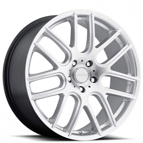 "18"" Vision Wheels 426 Cross Hyper Silver Rims"