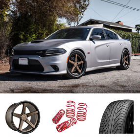 "2017 Dodge Charger 20"" Staggered Wheels+Tires+Suspension Package Deal"