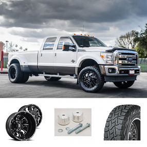 2016 Ford F-350 Dually Wheels+Tires+Suspension Package Deal