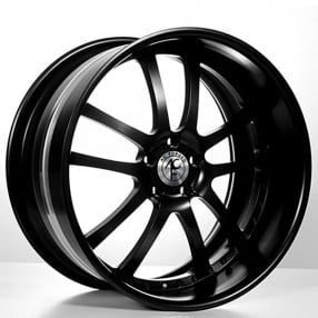 """22"""" AC Forged Wheels AC312 Black Three Piece Rims"""