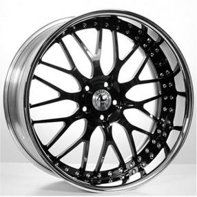 lamb hini diablo wheels and rims for sale audiocityusa Black H2 Wheels 22 staggered ac f ed wheels ac313 black face with chrome lip three piece rims
