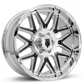 """20"""" American Truxx Wheels AT-151 Grind Chrome with Black Inserts Off-Road Rims"""
