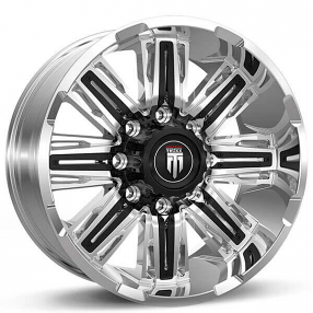 """20"""" American Truxx Wheels AT-152 Stacks Chrome with Black Inserts Off-Road Rims"""