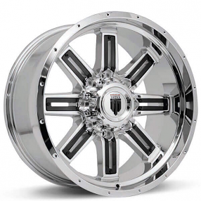 """18"""" American Truxx Wheels AT-153 Steel Chrome with Black Inserts Off-Road Rims"""
