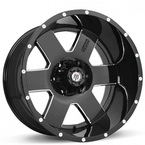 """18"""" American Truxx Wheels AT-155 Armor Black Milled Off-Road Rims"""