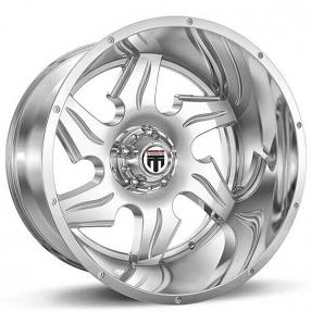 "22"" American Truxx Wheels AT-163 Ninja Chrome Off-Road Rims"
