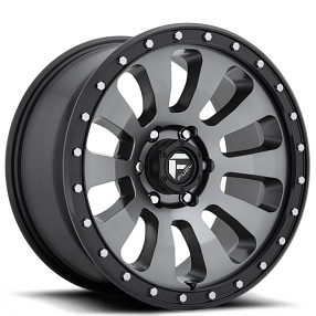 "20"" Fuel Wheels D648 Tactic Anthracite with Black Lip Off-Road Rims"