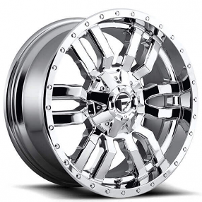 "22"" Fuel Wheels D631 Sledge Chrome Off-Road Rims"
